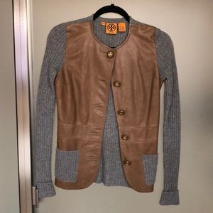 Tory Burch cashmere and leather jacket